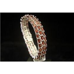 Fine Ruby Rhodolites Silver Bracelet