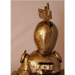 The Death of Saint Anthony - Gold over Bronze Sculpture -  after Salvador Dali