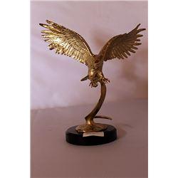 Landing Eagle - Gold over Bronze Sculpture after SPI