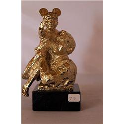High on a Hill - Gold over Bronze Sculpture - after Dennis Smith