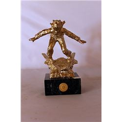 Down the Hill - Gold over Bronze Sculpture - after Dennis Smith