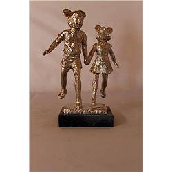 The Veteran - Gold over Bronze Sculpture - after Dennis Smith