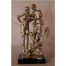 Lost In Fantasy Land - Silver Sculpture - after Dennis Smith