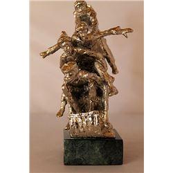 Tobogganeers - Silver Sculpture - after Dennis Smith