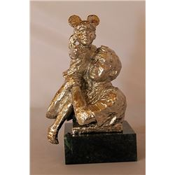 High on a Hill - Silver Sculpture - after Dennis Smith
