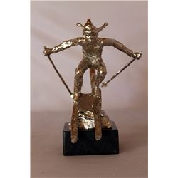 She Comes Into view - Silver Sculpture - after Dennis Smith