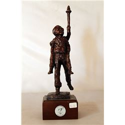 The torch - Bronze Sculpture - after Dennis Smith