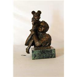 High on a Hill - Bronze Sculpture - after Dennis Smith