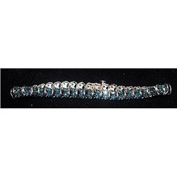 Lady's Gorgeous Silver Bracelet with Lab Alexandrites (115I)