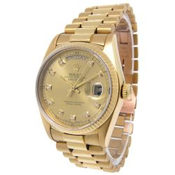 Men's 18K Gold President Day-Date Rolex Watch