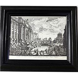Framed Nicola Salvi-Engraving (68E-EK)