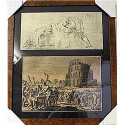 Framed 2-in-1 Engravings (78E-EK)