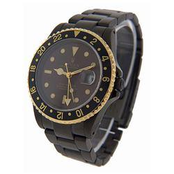 Men's Custom 18K Gold GMT Master II Rolex