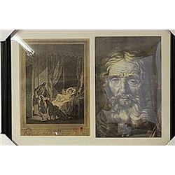 Framed 2-in-1 Engravings (94E-EK)