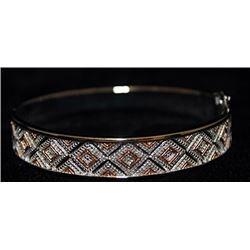 Beautiful 14kt over Silver Bracelet with Diamonds (142I)