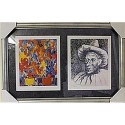 Framed 2-in-1-Picasso Lithographs (108E-EK)