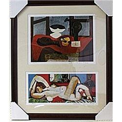 Framed 2-in-1 Picasso Lithographs (123E-EK)