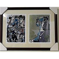 Framed 2-in-1 Picasso Lithographs (127E-EK)