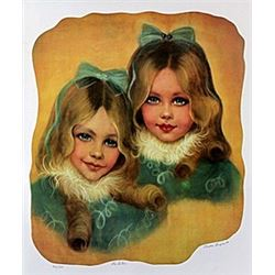"Lithograph ""The Sisters""  Rhoda S."