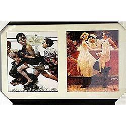 Framed 2-in-1 Norman Rockwell Lithographs (152E-EK)