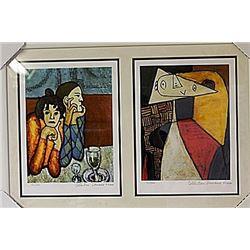 Framed 2-in-1 Picasso Lithographs (155E-EK)