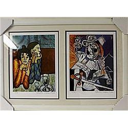 Framed 2-in-1 Picasso Lithographs (156E-EK)