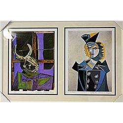 Framed 2-in-1 Picasso Lithographs (160E-EK)
