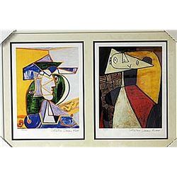 Framed 2-in-1 Picasso Lithographs (162E-EK)