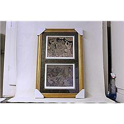 Framed 2-in-1 Picasso Lithographs (163E-EK)