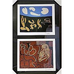 Framed 2-in-1 Picasso Lithographs (168E-EK)