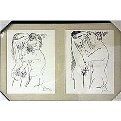 Framed 2-in-1 Picasso Lithographs (170E-EK)