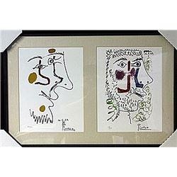 Framed 2-in-1 Picasso Lithographs (178E-EK)