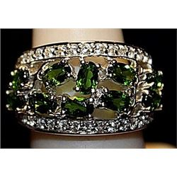 Gorgeous Russian Chrome Diopside SS Ring. (257L)