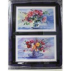 Framed Claude Mars 2-in-1  Jasper Johns and Picasso Lithographs (214E-EK)