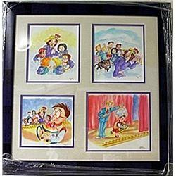 Framed 4-in-1 Unknown Artist (215E-EK)