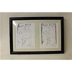 Framed 2-in-1 Picasso Lithographs(226E-EK)