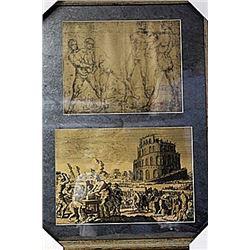 Framed 2-in-1 Engravings (228E-EK)