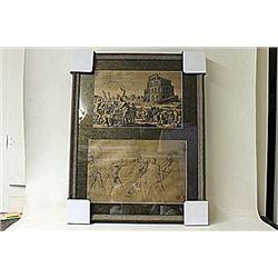 Framed 2-in-1 Engravings (229E-EK)