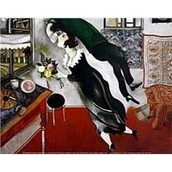 "Print ""Birthday""  Marc Chagall"