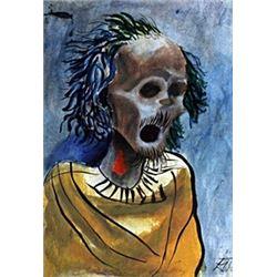 Morte 1935' - Oil on Paper - Otto Dix