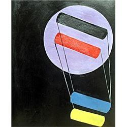 Untitled - Oil Paininting - Laszlo Moholy