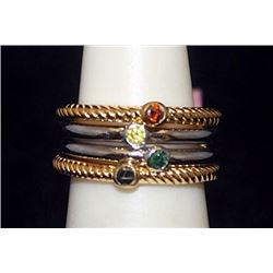 Beautiful 14kt over Silver Mix Rings with Mix Stones (74I)