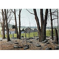 """Lithograph """"Wooded Stead""""  Helen Rundell"""