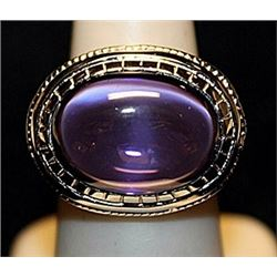 Gorgeous Tanzanite Sterling Silver Ring. (543L)