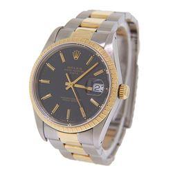 Men's 18K Gold Date Rolex Watch
