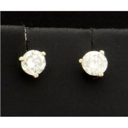 Diamond Stud Earrings almost 1/2 Carat (0.45 carats)