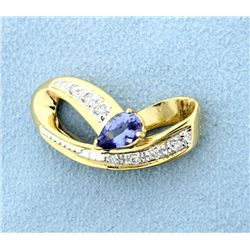 Tanzanite & Diamond Slide