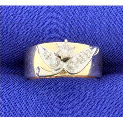 Diamond 8mm 14k Band Style Ring