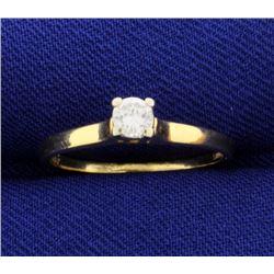 Diamond 1/5 Carat 18k Solitaire Ring