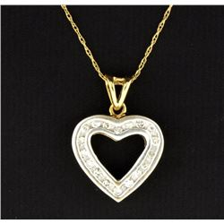 10K Diamond Heart Pendant